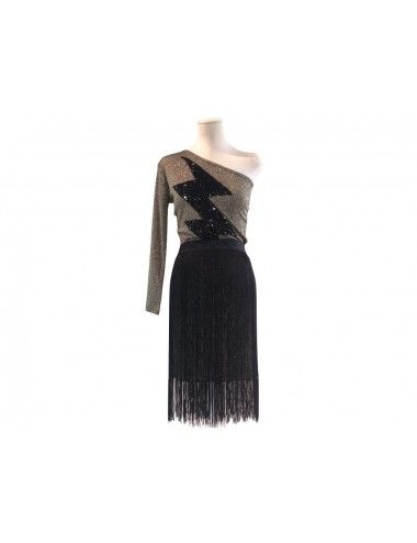 Fringed skirt gold