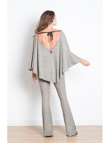 ANABEL PONCHO BLING gris