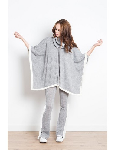BIRKIN PONCHO WINTER gris